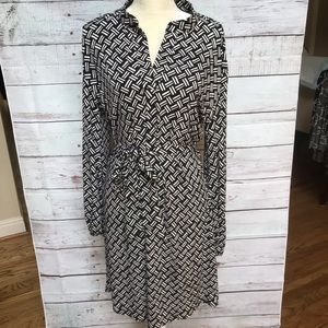 Laundry By Design belted dress, size 12